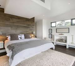 Modern Master Bedroom Colors by Modern Master Bedroom With Wooden Cladding Modern Master Bedroom