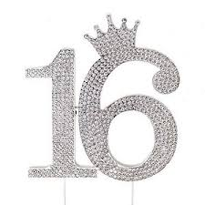 16 cake topper sweet 16 silver crown cake topper rhinestone princess