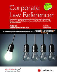 lexisnexis law books corporate law referencer best book on companies act 2013