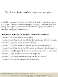 Job Description For Project Coordinator Top8itprojectcoordinatorresumesamples 150406201110 Conversion Gate01 Thumbnail 4 Jpg Cb U003d1428369120