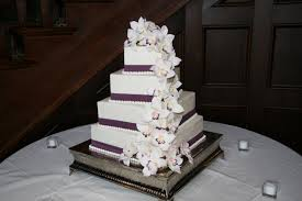 tiered wedding cakes offset square tiered wedding cakes melitafiore