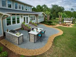 large backyard patio fireplace tinkerturf pictures with
