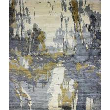 gray and gold rug