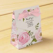 personalized wedding favor boxes modern vintage pink floral personalized wedding favor box zazzle
