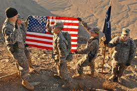 Us Military Flags Free Public Domain Image U S Soldiers Holding The American Flag