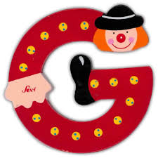 sevi clown wooden letter g clearance tjskids com vancouver baby
