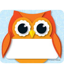 thanksgiving name tags colorful owl name tags grade pk 5 carson dellosa publishing