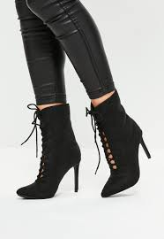 s lace up ankle boots nz black pointed lace up ankle boots missguided