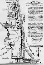 Evanston Illinois Map by The Great Race Of 1895
