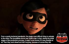 The Incredibles Memes - violet s hair was the most difficult thing to animate in the