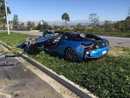 bugatti crash bmw cars news bmw i8 destroyed in freak crash