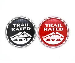 jeep black emblem 2017 3d trail metal car sticker black emblem badge for