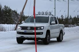 volkswagen xenon spyshots vw amarok with led daytime running spied again