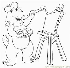 barney 19 coloring free barney coloring pages