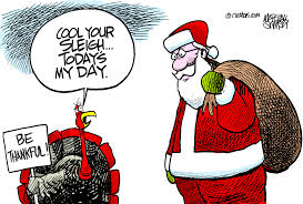 today s thanksgiving fights santa and shopping