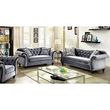 Tufted Fabric Sofa by A R T Furniture Giovanna Azure Sofa Hayneedle
