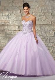 beaded tulle with a ruffled skirt quinceanera dress style 89034
