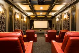 Coffered Ceiling Lighting by Kb Homes Orlando Home Theater Traditional With Ceiling Lighting