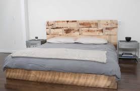 Wood Platform Bed Frame Bed Frames Reclaimed Wood Headboard King Magnificent Fantastic