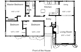 3 bedroom house plan design floor plan for small 1 200 sf house