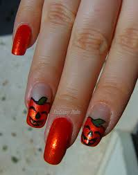 halloween nail art challenge pumpkin fashiony nails beauty blog