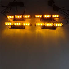 snow plow strobe lights yellow amber flash light 4x9 led snow plow car boat truck front