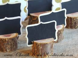 12 rustic cedar place card holders tree card holders place