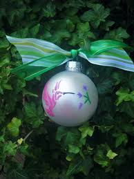 hummingbird ornament humming bird personalized hand painted
