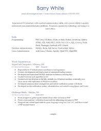 Linux Admin Sample Resume Cornell Resume Resume For Your Job Application