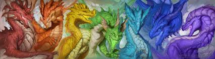 spectrum of dragons by the sixthleafclover on deviantart