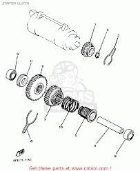 yamaha xv750 virago 1983 d usa starter clutch schematic partsfiche