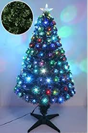 6ft green artificial fibre optic christmas xmas tree with multi