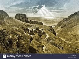 ruins of tintagel castle from the legendary king arthur tintagel