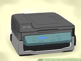 printer epson l210 minta reset how to clear a paper jam in an epson laser printer with pictures