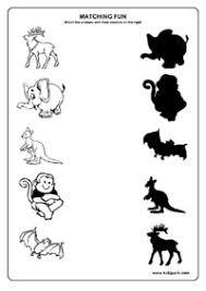 animals worksheets matching worksheets for kids kindergarten