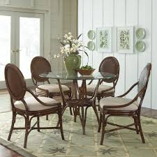 indoor wicker dining table rattan dining set indoor florida condo decor ideas pinterest