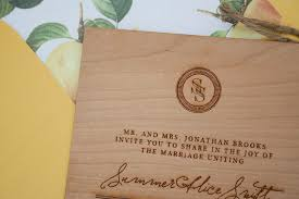 Customized Wedding Programs Wood Engraved Wedding Invitations Via Beautiful Paper Diy