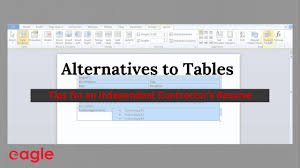 Alternative To Resume Ms Word Tip Alternatives To Using Tables In A Resume Youtube
