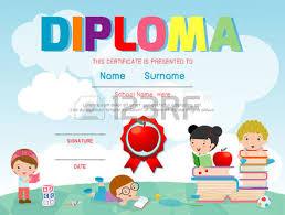 kindergarten certificates certificate kids diploma kindergarten template layout space