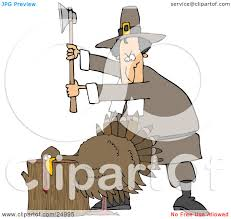 thanksgiving pilgrims clipart clipart illustration of a male pilgrim holding an axe above a