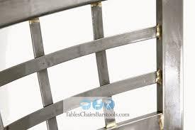 Metal Bar Chairs Gladiator Clear Coat Window Pane Metal Bar Stool Black Vinyl Shows