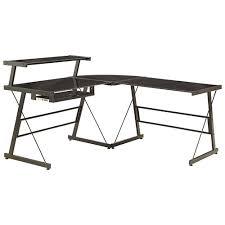 techni mobili black glass corner desk wonderful techni mobili l shape corner desk with file cabinet in