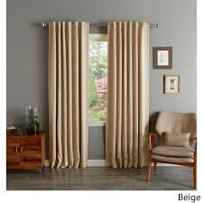 84 Inch Curtains Insulated Thermal Blackout 84 Inch Curtain Panel Pair Overstock