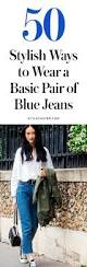 ways to wear short scarf for a more fashionable look how to wear blue jeans 50 perfect stylecaster