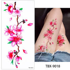 glaryyears 1 sheet dazzle blossom rose flower peony tattoo