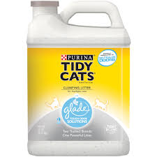 purina tidy cats clumping cat litter with glade tough odor