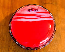 cranberry vanilla mirror glaze entremet say it with cake
