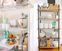 how to organize open kitchen cabinets organize this open kitchen shelving bhg style spotters