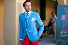 Light Blue Jacket Mens Ligt Blue Jacket Red Trousers Men U0027s Fashion Blog