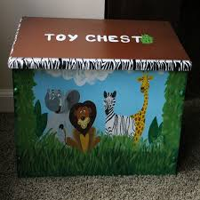 Bench Toybox Jungle Animals And Safari Themed Toy Bench Toy Box Treasure